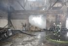 Brand einer Scheune im Wohngebiet