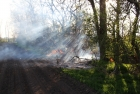 Flurbrand zwischen Tadten und Wallern