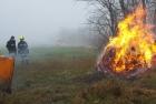 Strohballenbrand zwischen Tadten und Andau
