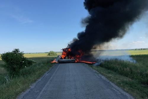 Traktorbrand am 15.06.2017