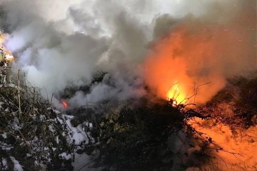 Brandeinsatz Altstoffsammelstelle Tadten
