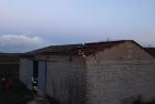 Abgedecktes Dach durch Sturmschaden