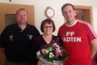 Geburtstag Sattler Anneliese: FF Tadten gratuliert
