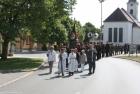 Prozession zum Kriegerdenkmal