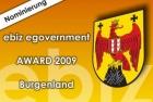 Nominierung für den ebiz award 2009 Burgenland