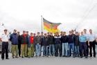 Gruppenfoto bei der Marinefeuerwehr
