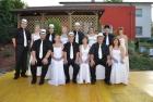 Polonaisetänzerinnen u. Tänzer - Sommernachtsball